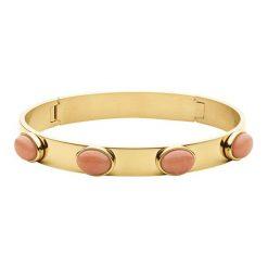 Bransoletki damskie na nogę: Bransoletka w kolorze złotym z kamieniami