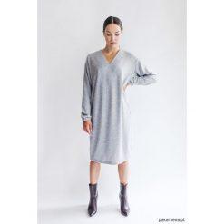 Wełniana Sukienka PLEASURE GREY. Niebieskie sukienki na komunię marki Pakamera, z bawełny. Za 499,00 zł.
