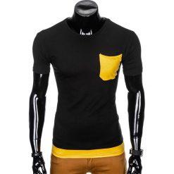 T-SHIRT MĘSKI BEZ NADRUKU S963 - CZARNY. Szare t-shirty męskie z nadrukiem marki Lacoste, z gumy, na sznurówki, thinsulate. Za 29,00 zł.