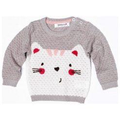 Minoti Dziewczęcy Sweter Z Kotem 74/80 Szary. Szare swetry dziewczęce MINOTI. Za 75,00 zł.