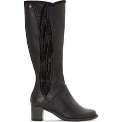 Buty zimowe damskie: Skórzane botki Calista