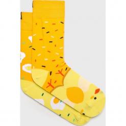 Nanushki - Skarpetki Chicken Out. Żółte skarpetki damskie Nanushki, z bawełny. Za 24,90 zł.