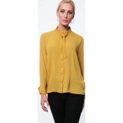 Koszula z cyrkoniami miodowa MP26005. Pomarańczowe koszule wiązane damskie Fasardi, l. Za 49,00 zł.