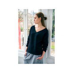Bluzy damskie: VELVET BLACK bluza oversize