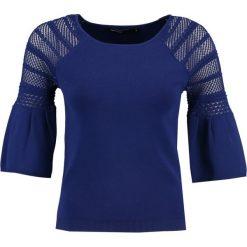 Swetry klasyczne damskie: Karen Millen POINTELLE FLUTED SLEEVE COLLECTION Sweter blue