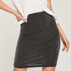 Spódniczki: Spódnica z połyskującą nitką - Srebrny