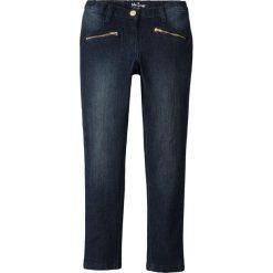 """Dżinsy SKINNY z ozdobnymi kieszeniami bonprix ciemnoniebieski """"stone"""". Niebieskie jeansy dziewczęce bonprix, z materiału. Za 74,99 zł."""