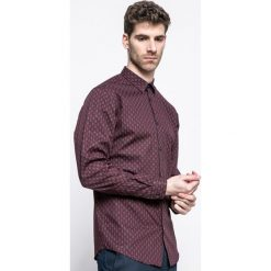 Premium by Jack&Jones - Koszula. Szare koszule męskie na spinki marki Premium by Jack&Jones, l, z bawełny, z włoskim kołnierzykiem, z długim rękawem. W wyprzedaży za 89,90 zł.