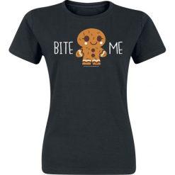 Bluzki asymetryczne: Bite Me Koszulka damska czarny