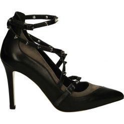 Czółenka - 9720 NERO1597. Czarne buty ślubne damskie Venezia, ze skóry. Za 269,00 zł.