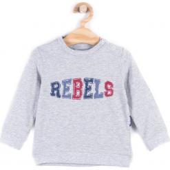 Koszulka. Szare t-shirty chłopięce z długim rękawem REBELS, z bawełny. Za 34,90 zł.