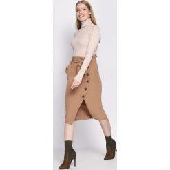 Ciemnobeżowa Spódnica Ingratiating. Brązowe spódniczki Born2be, uniwersalny, midi. Za 79,99 zł.