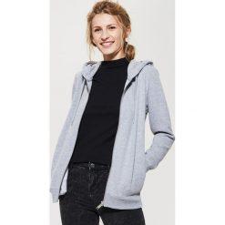 Bluza z kapturem - Jasny szar. Czarne bluzy męskie rozpinane marki Reserved, l, z kapturem. Za 99,99 zł.