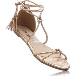 Sandały damskie: Sandały bonprix kolor czerwonego złota