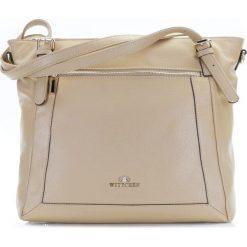 Torebka damska 86-4E-441-9. Brązowe torebki klasyczne damskie Wittchen, w paski. Za 499,00 zł.