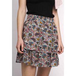 Minispódniczki: Prosta spódnica z nadrukiem z kaszmiru, krótka