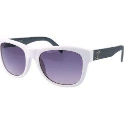 """Okulary przeciwsłoneczne damskie aviatory: Okulary przeciwsłoneczne """"JC597S 21B"""" w kolorze biało-szarym"""
