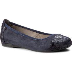 Baleriny EDEO - 2151-875/170/875 Wzór Granat/Granat. Niebieskie baleriny damskie zamszowe marki Edeo, na płaskiej podeszwie. W wyprzedaży za 179,00 zł.
