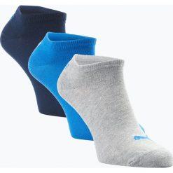 Puma - Męskie skarpety do obuwia sportowego pakowane po 3 szt., niebieski. Niebieskie skarpetki męskie Puma, z dżerseju. Za 39,95 zł.