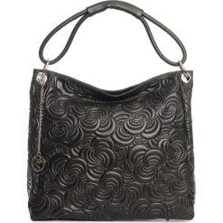 Torebki klasyczne damskie: Skórzana torebka w kolorze czarnym – 40 x 49 x 14 cm