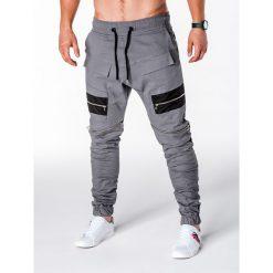 SPODNIE MĘSKIE JOGGERY P708 - SZARE. Szare joggery męskie Ombre Clothing. Za 79,00 zł.