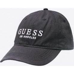 Guess Jeans - Czapka. Szare czapki z daszkiem męskie Guess Jeans, z aplikacjami, z bawełny. Za 139,90 zł.