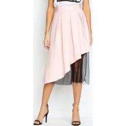 Różowa Spódnica To Good Effect. Czerwone spódniczki rozkloszowane Born2be, s, w paski, z materiału, z podwyższonym stanem, midi. Za 59,99 zł.