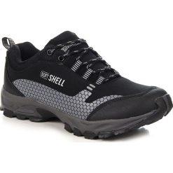 Buty trekkingowe męskie: Czarno szare sportowe buty męskie trekkingowe Wishot