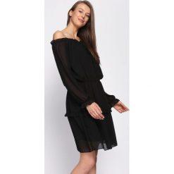 Czarna Sukienka Counseled. Czarne sukienki hiszpanki Born2be, uniwersalny, mini. Za 69,99 zł.
