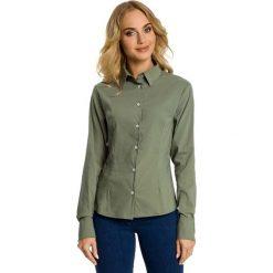 Bielizna damska: Khaki Koszula Taliowana z Ozdobnymi Tasiemkami