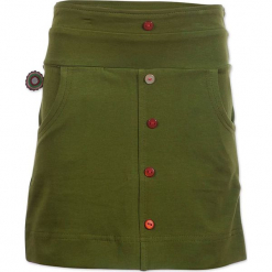 """Spódnica """"Natural High"""" w kolorze khaki. Brązowe spódniczki dziewczęce marki 4FunkyFlavours Kids, mini. W wyprzedaży za 82,95 zł."""