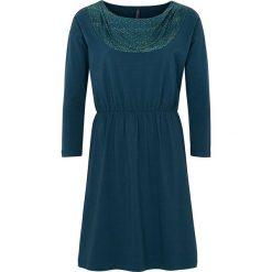 """Sukienki hiszpanki: Sukienka """"Anne"""" w kolorze morskim"""