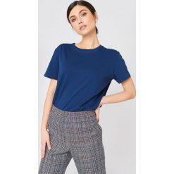 NA-KD Basic T-shirt oversize - Blue,Navy. Różowe t-shirty damskie marki NA-KD Basic, z bawełny. Za 40,95 zł.