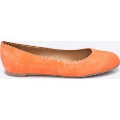 Gino Rossi - Baleriny Rosa. Pomarańczowe baleriny damskie zamszowe marki Gino Rossi. W wyprzedaży za 169,90 zł.