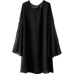 Długie sukienki: Sukienka z przezroczystymi ozdobnymi rękawami