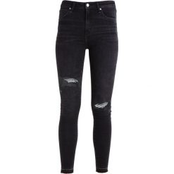 Rurki damskie: Abercrombie & Fitch HIGH RISE SUPER SKINNY Jeans Skinny Fit black
