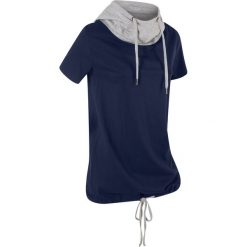 T-shirt bawełniany z kapturem i wiązaniem, krótki rękaw bonprix ciemnoniebieski. Czerwone t-shirty damskie marki WED'ZE, xl, z elastanu, z kapturem. Za 42,99 zł.