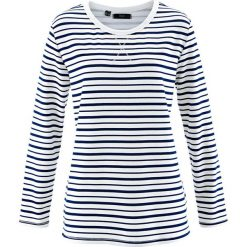 Bluzy rozpinane damskie: Bluza bonprix biały w paski