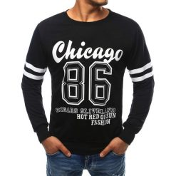 Bluzy męskie: Bluza męska czarna (bx1676)