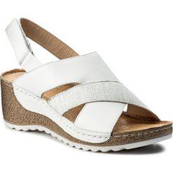 Rzymianki damskie: Sandały WASAK – 0493 Biały/Len