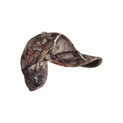 Czapka myśliwska polarowa ACTIKAM-B camo. Brązowe czapki z daszkiem damskie marki SOLOGNAC, z bawełny. Za 39,99 zł.