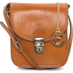 Torebki klasyczne damskie: Skórzana torebka w kolorze brązowym – 15 x 17 x 8 cm