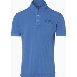 Napapijri - Męska koszulka polo – Elbas 1, niebieski. Szare koszulki polo marki Napapijri, l, z materiału, z kapturem. Za 179,95 zł.