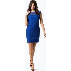 LAUREN RALPH LAUREN - Sukienka damska, niebieski. Białe sukienki balowe marki BIALCON, na imprezę, w koronkowe wzory, z koronki, z kopertowym dekoltem, midi, kopertowe. Za 479,95 zł.