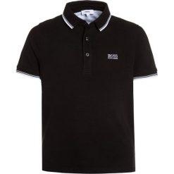 BOSS Kidswear MANCHES COURTES Koszulka polo schwarz. Niebieskie t-shirty chłopięce marki BOSS Kidswear, z bawełny. Za 189,00 zł.