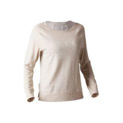 Koszulka długi rękaw Gym & Pilates 500 damska. Brązowe bluzki sportowe damskie DOMYOS, m, z bawełny, z długim rękawem. Za 39,99 zł.