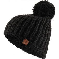 Czapka damska CAD615 - głęboka czerń - Outhorn. Czarne czapki zimowe damskie Outhorn, na jesień, ze splotem. Za 34,99 zł.