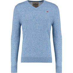 Swetry klasyczne męskie: Hollister Co. Sweter blue