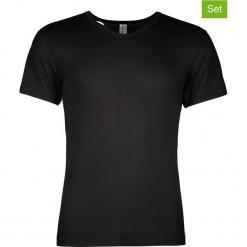 Podkoszulki (3 szt.) w kolorze czarnym. Szare podkoszulki męskie marki Astratex, m, z nadrukiem, z bawełny. W wyprzedaży za 108,95 zł.