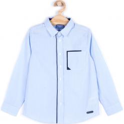 Koszula. Niebieskie koszule chłopięce z długim rękawem marki ELEGANT JUNIOR BOY, z bawełny. Za 59,90 zł.